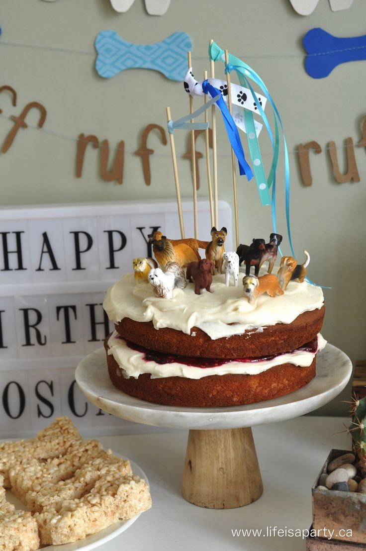 Puppy Dog Birthday Party Easy Ideas For A Cake Humans And Real Along With Inexpensive Themed Decorations Dessert Table