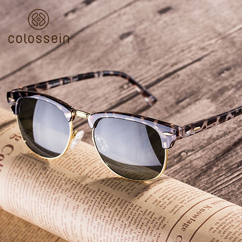 528d65f0e0 COLOSSEIN Blue Label 2017 Spring Classic Fashion Sunglasses Gray Colors Polarized  Eyewear Sunglasses For Women