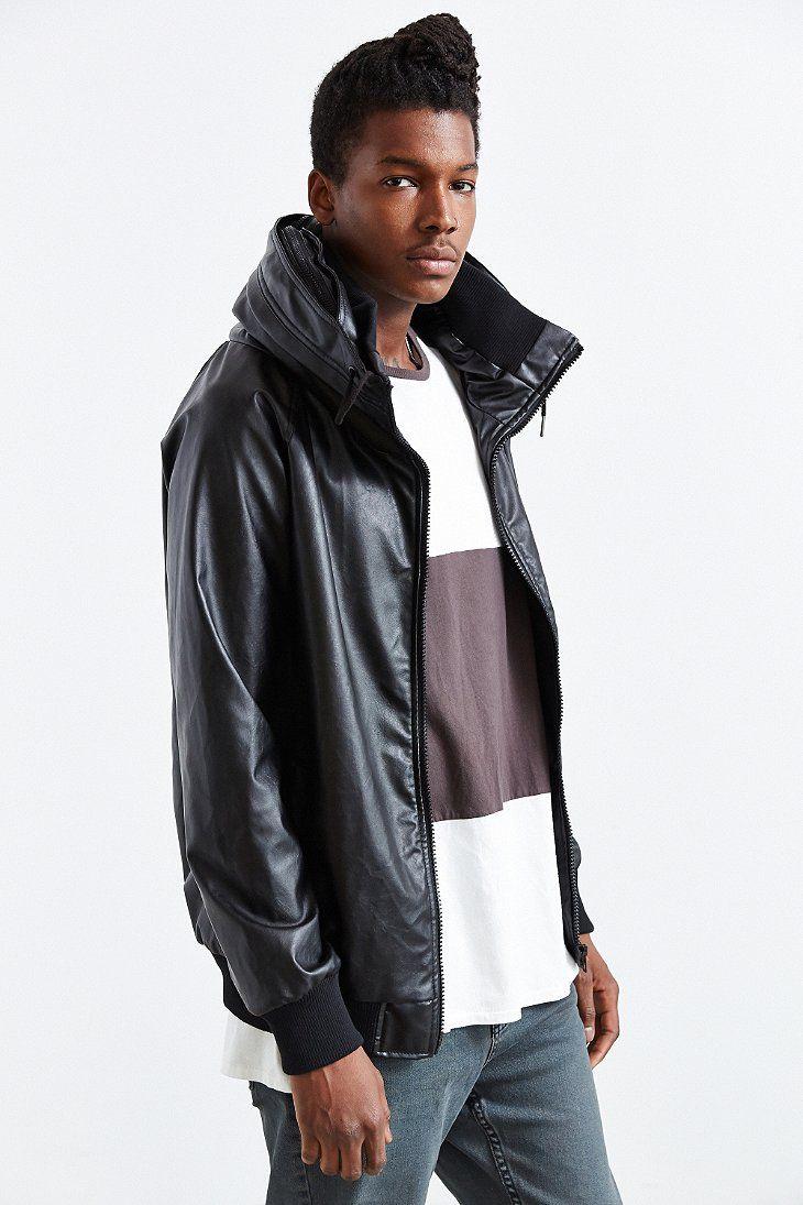 B Scott Hooded Cowl Faux Leather Jacket Faux Leather Jackets Leather Jacket Jackets [ 1095 x 730 Pixel ]