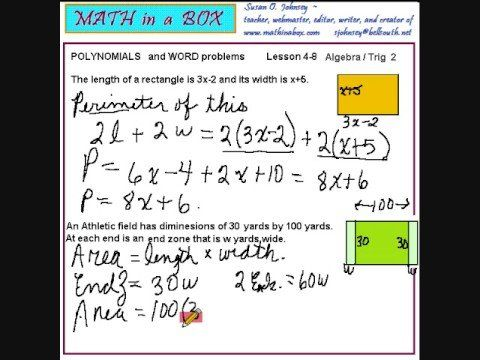 Polynomial Equation Word Problems Solutions Examples Videos