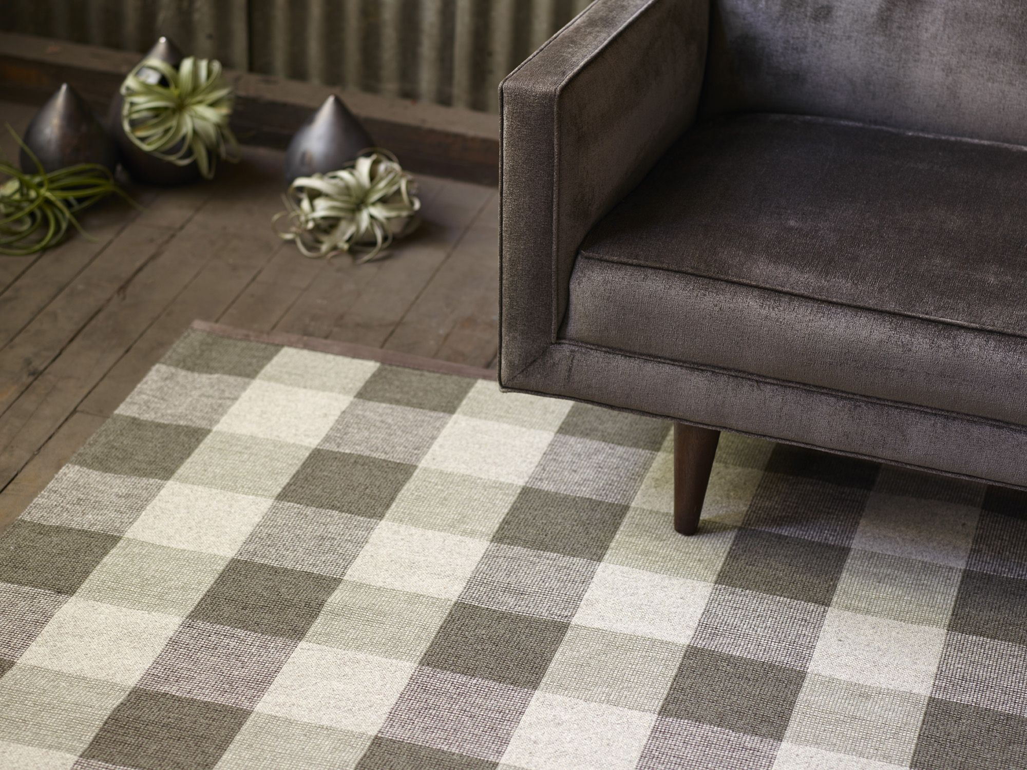 Foster in green olive from the tailormade collection of flatweave wool rugs made to measure and woven to order in fall river usa