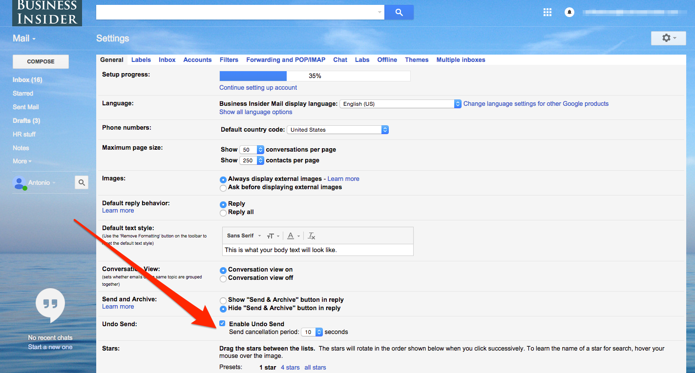 How To Unsend An Email In Gmail Marketing Resources Business Insider Email