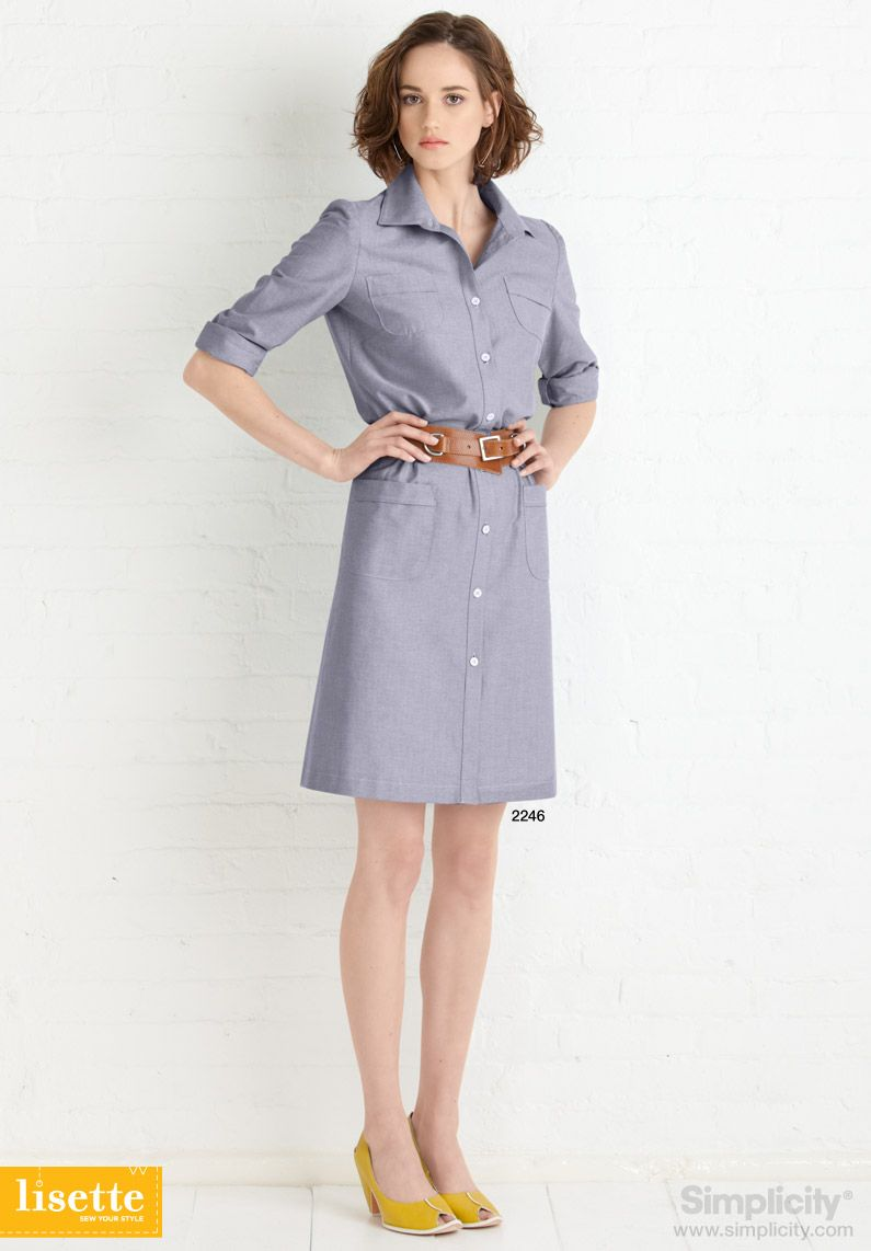 Lisette Sew Your Style - Shirtdress with Simplicity Pattern 2246 ...
