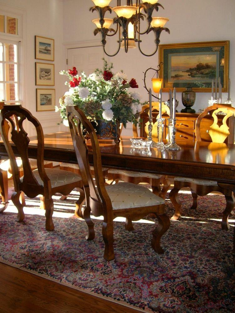 Centros de mesa decoracion elegante para comedores ideas for Mesa de comedor elegante lamentable