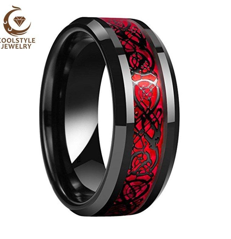 Mens Star Wars Wedding Rings In 2020 Mens Wedding Rings Black Star Wars Wedding Ring Tungsten Mens Rings
