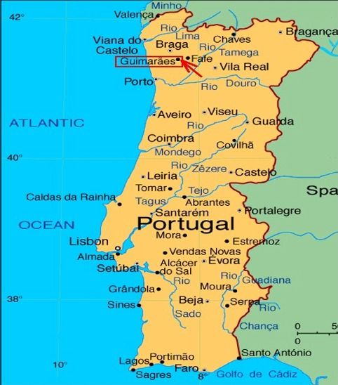 Map Of Portugal For Tourists Map Showing Portugal Towns And - Portugal map lonely planet