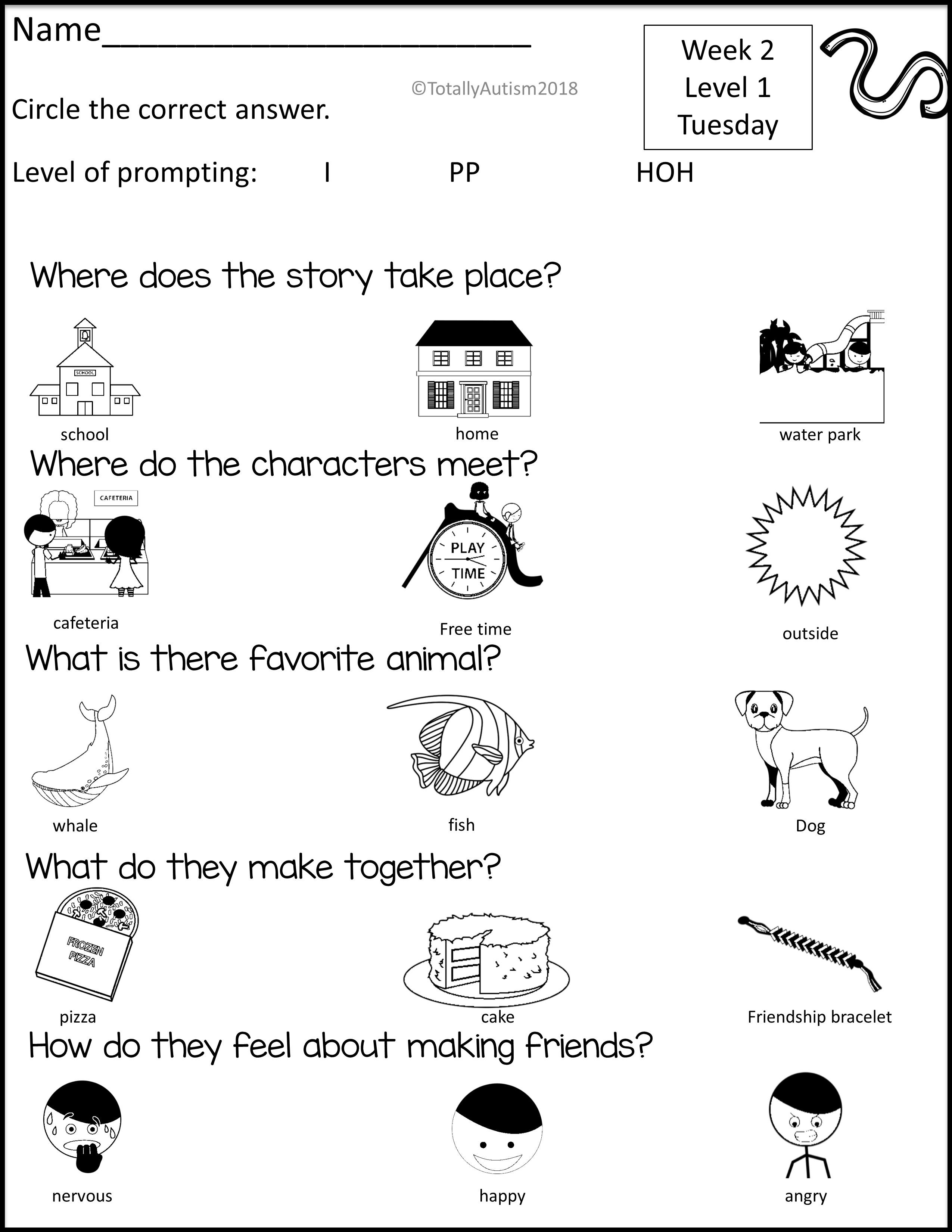 Reading Comprehension With Visuals September Boom Deck Reading Comprehension Reading Comprehension Worksheets Autism Reading [ 3300 x 2550 Pixel ]