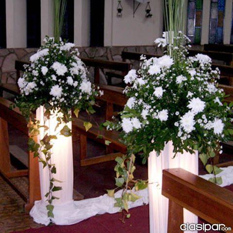 Decoracion iglesia para boda buscar con google en la for Decoracion para casamiento