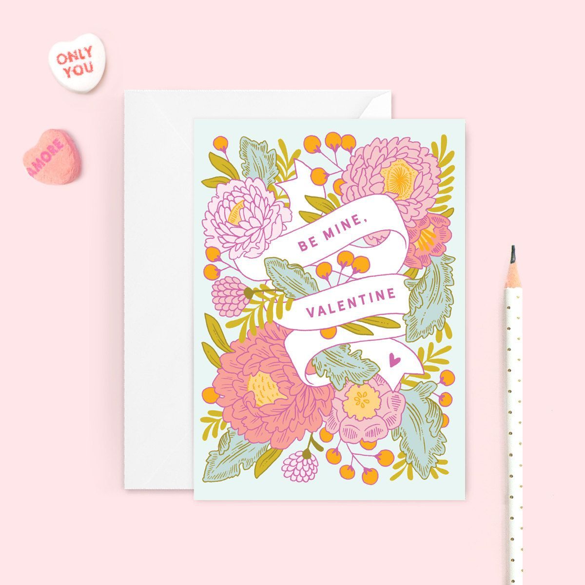 Pretty floral valentines for your sweetheart be mine valentine by pretty floral valentines for your sweetheart be mine valentine by paper raven co m4hsunfo