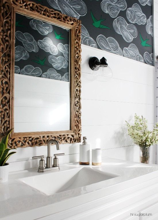 {Big Box Bathroom} The Reveal Shiplap bathroom, Powder