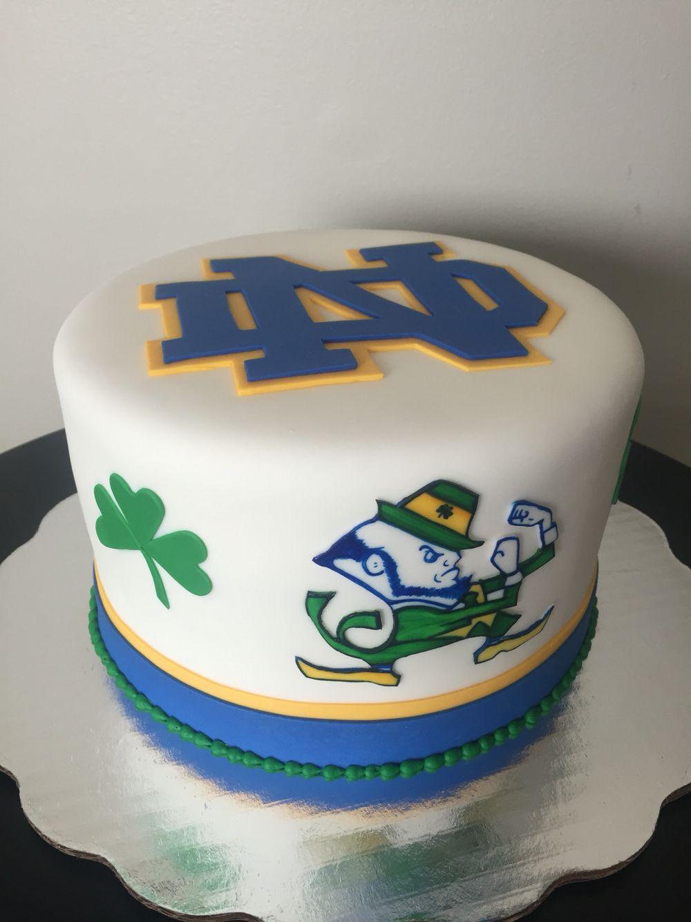 Notre Dame Cake Irish cake, Irish birthday cake, Irish