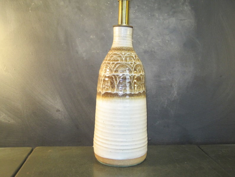 Vintage Pottery Table Lamp Ceramic Table Lamp Etsy In 2020 Ceramic Table Ceramic Table Lamps Vintage Pottery