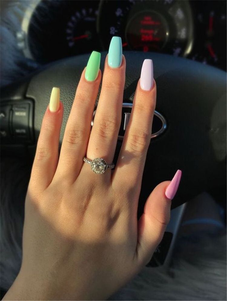 Trendy And Bright Summer Nail Colors You Must Try This Summer Bright Summer Nail Colors Bright Na Ombre Acrylic Nails Best Acrylic Nails Summer Acrylic Nails