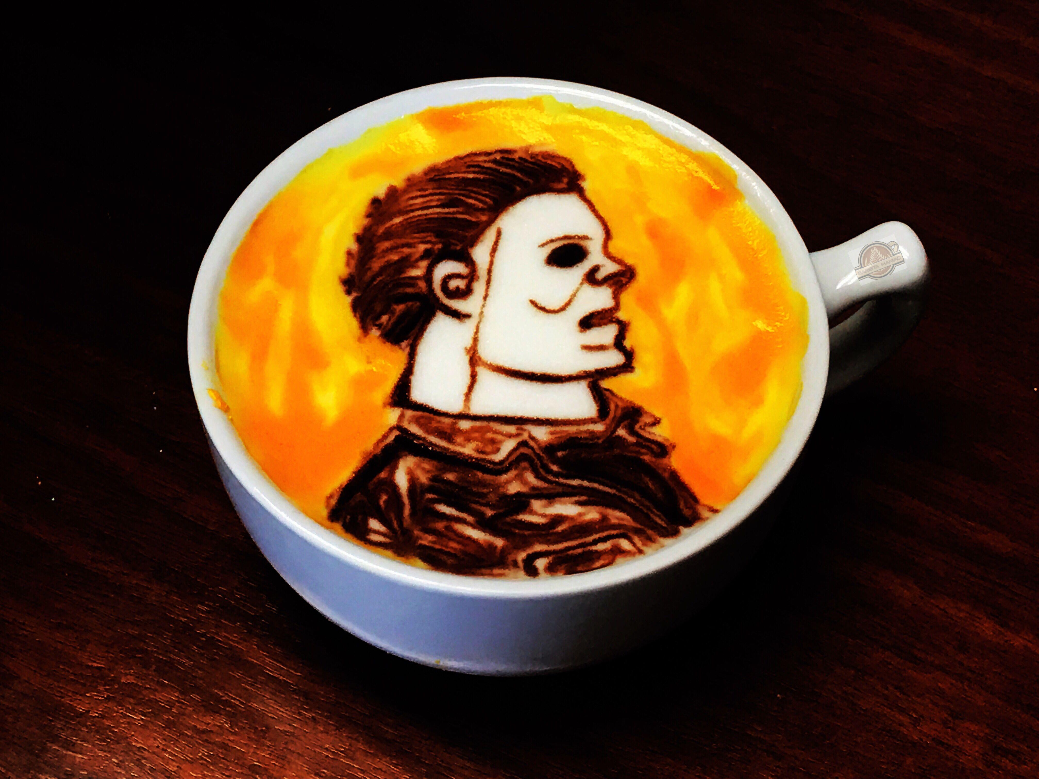 Mike Myers Halloween Coffee Latte Art Latte art, Coffee