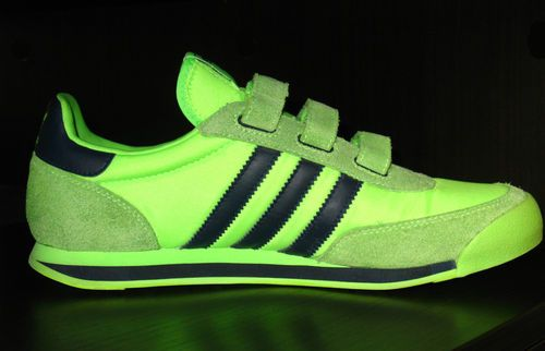 2ec1289f0 Adidas Orion Retro Velcro Tennis Shoes Green Navy Mens Boys US 6 Womens 7.5  - 8