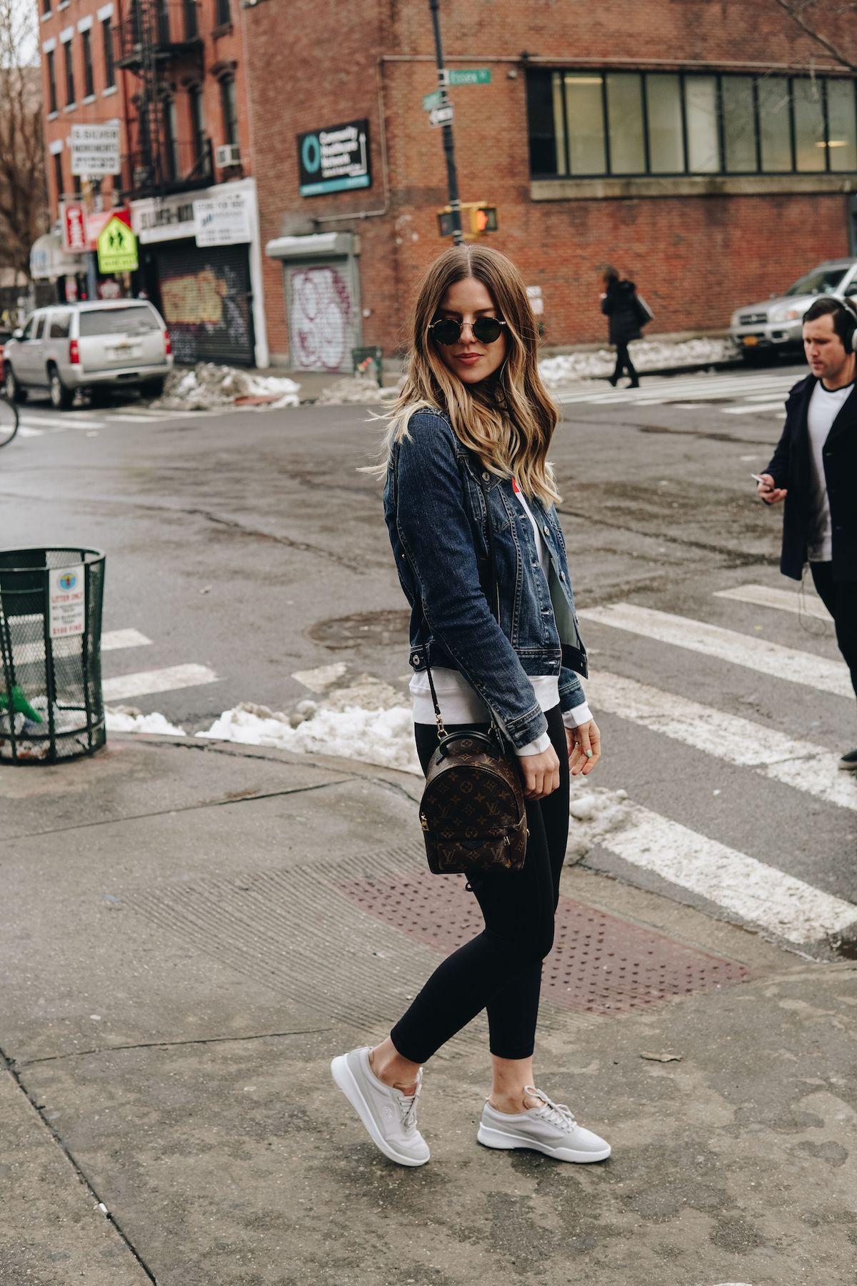 Denim Jacket, Louis Vuitton Backpack
