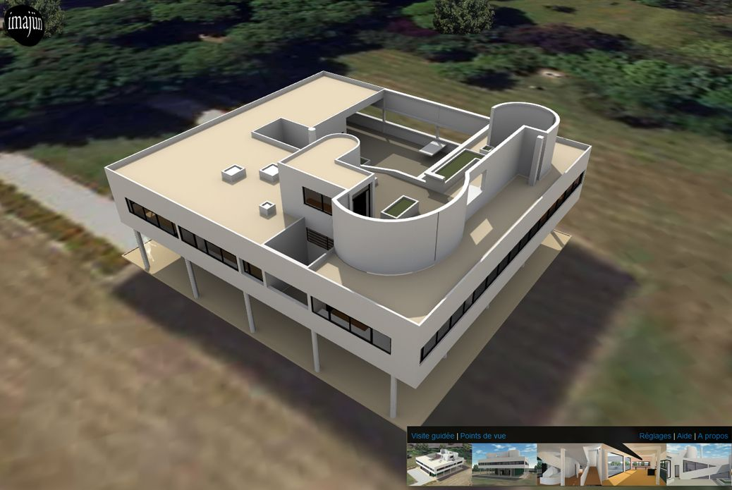 3D virtual tour of the Villa Savoye built by Le Corbusier in Poissy