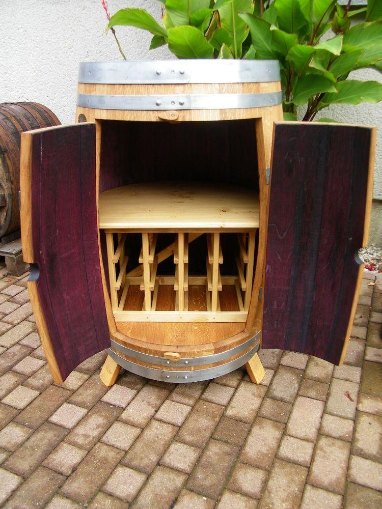 Details zu Weinfass Weinschrank mit Weinregal für 12 Flaschen ...
