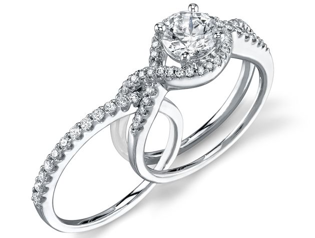 I Love The Idea Of The Wedding Band And Engagement Ring Fitting Together Or Intertwining Engagement Rings Twisted Bling Wedding Wedding Rings Engagement