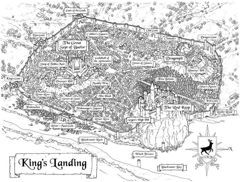 Map Of Kings Landing Kings Landing | Maps in 2019 | Game of thrones map, Game of