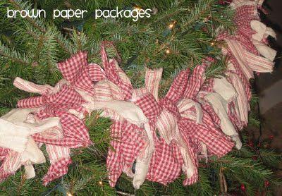 Rag Garland Simply Kierste Christmas Tree Garland Diy Christmas Tree Garland Rag Garland