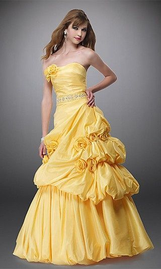 Princess Belle Prom Dress