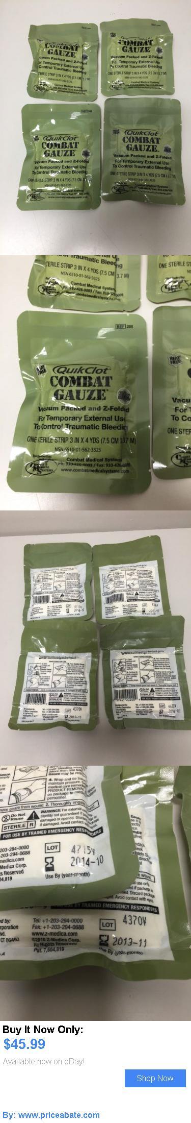 collectibles: Usmc Medical Surplus Quikclot Combat Gauze Lot Of 4- 3 In.X 4 Yards/ BUY IT NOW ONLY: $45.99 #priceabatecollectibles OR #priceabate