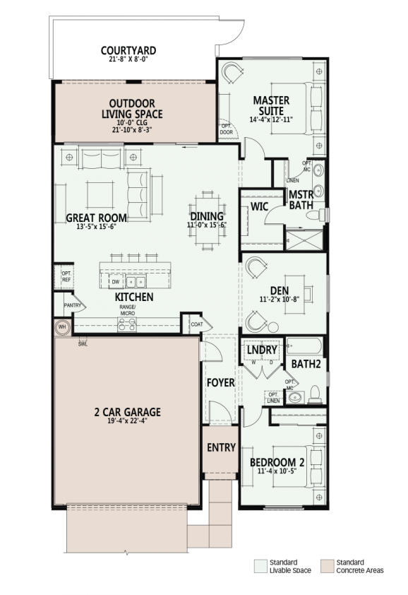 Luxury Retirement munities for Active Adults and 55 Seniors property Primrose – Courtyard