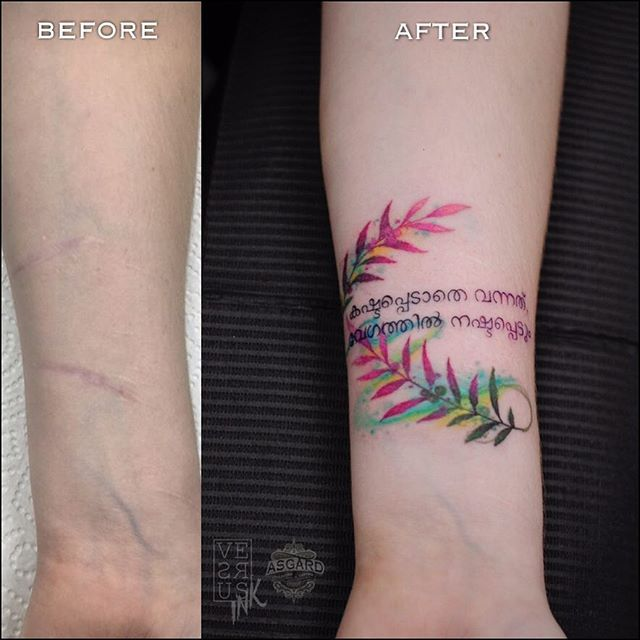 64987250dbc02 Freehand scar covering. Done at @asgardsouthampton ...