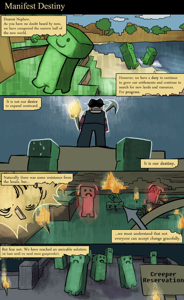 16++ Minecraft comics information