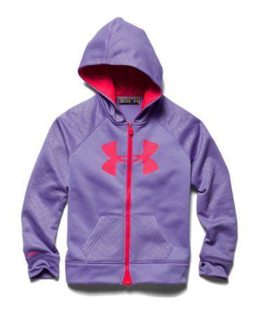 1c6e0e32 Amazon.com: Under Armour Girls' UA Storm Armour® Fleece Big Logo ...