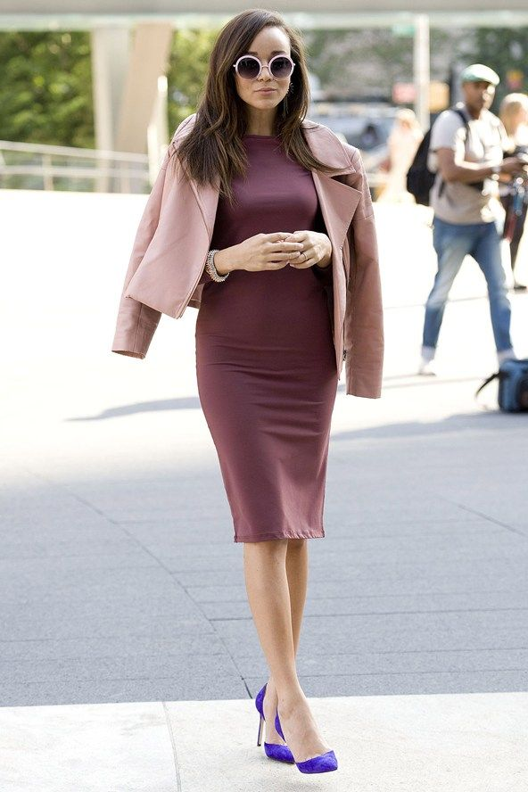 Ashley Madekwe pastel & burgundy trend with a pop of colour for spring!