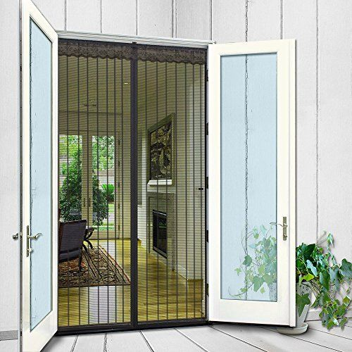 N Green Door Screen Curtain Mesh With Magnetic Seals Magnetic