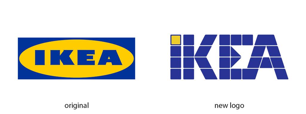 15 Brand Logos Recreated With Logic By Graphic Artist Tlb Ikea Logo Furniture Logo Brand Logo