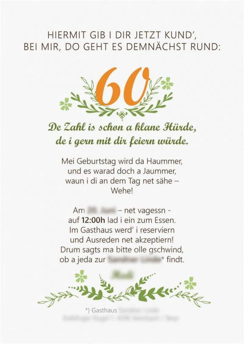 einladung geburtstag : texte für einladungen zum 60