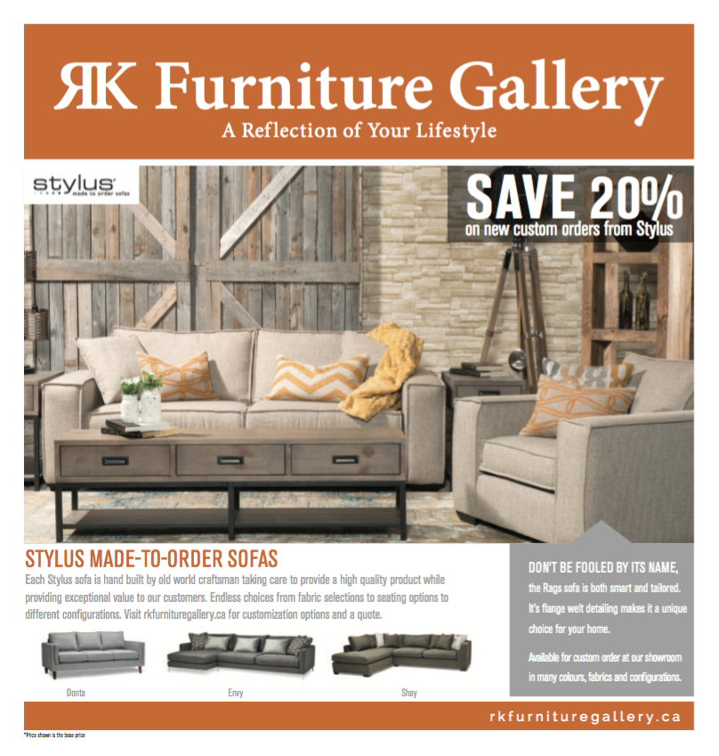 Incredible Deals Happening In October SAVE On Quality Home Furnishings!  Visit RK Furniture Gallery Before October To Take Advantage Of Our Furniture  Sale!