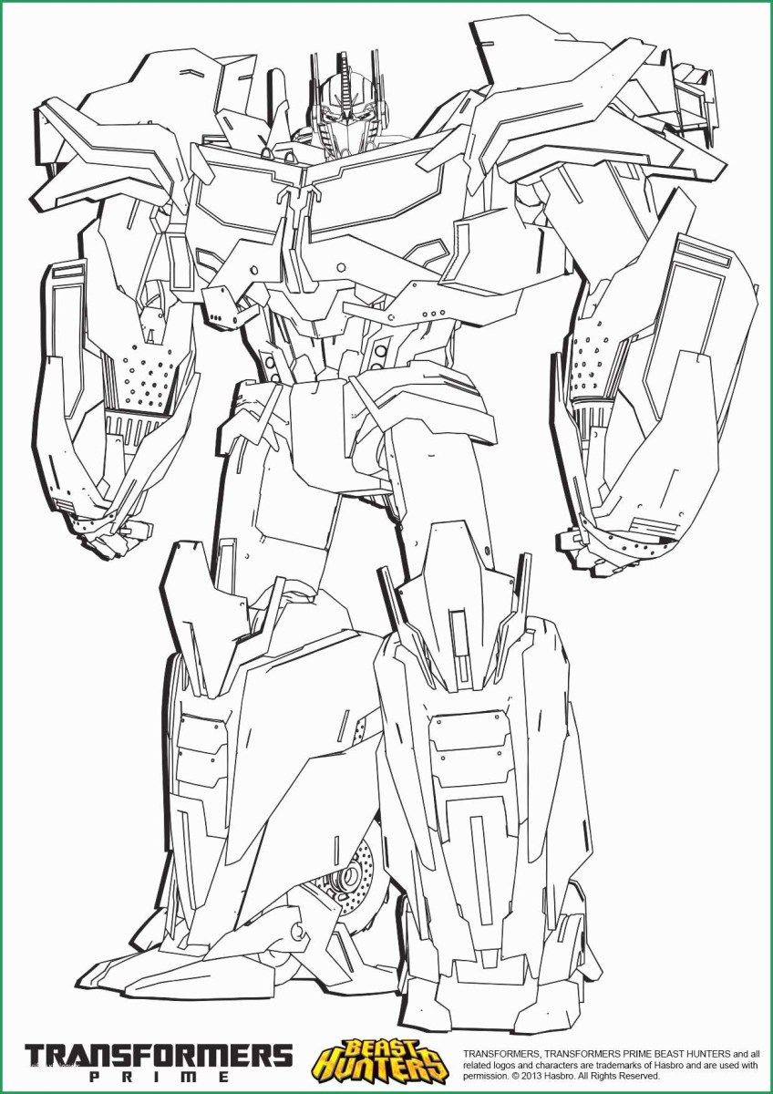 Optimus Prime Coloring Page Transformers Prime Coloring Pages