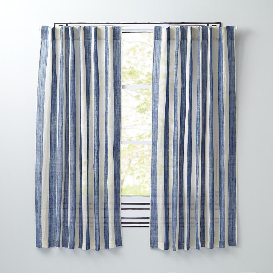 Line Up Curtain Panels (Blue) | The Land Of Nod