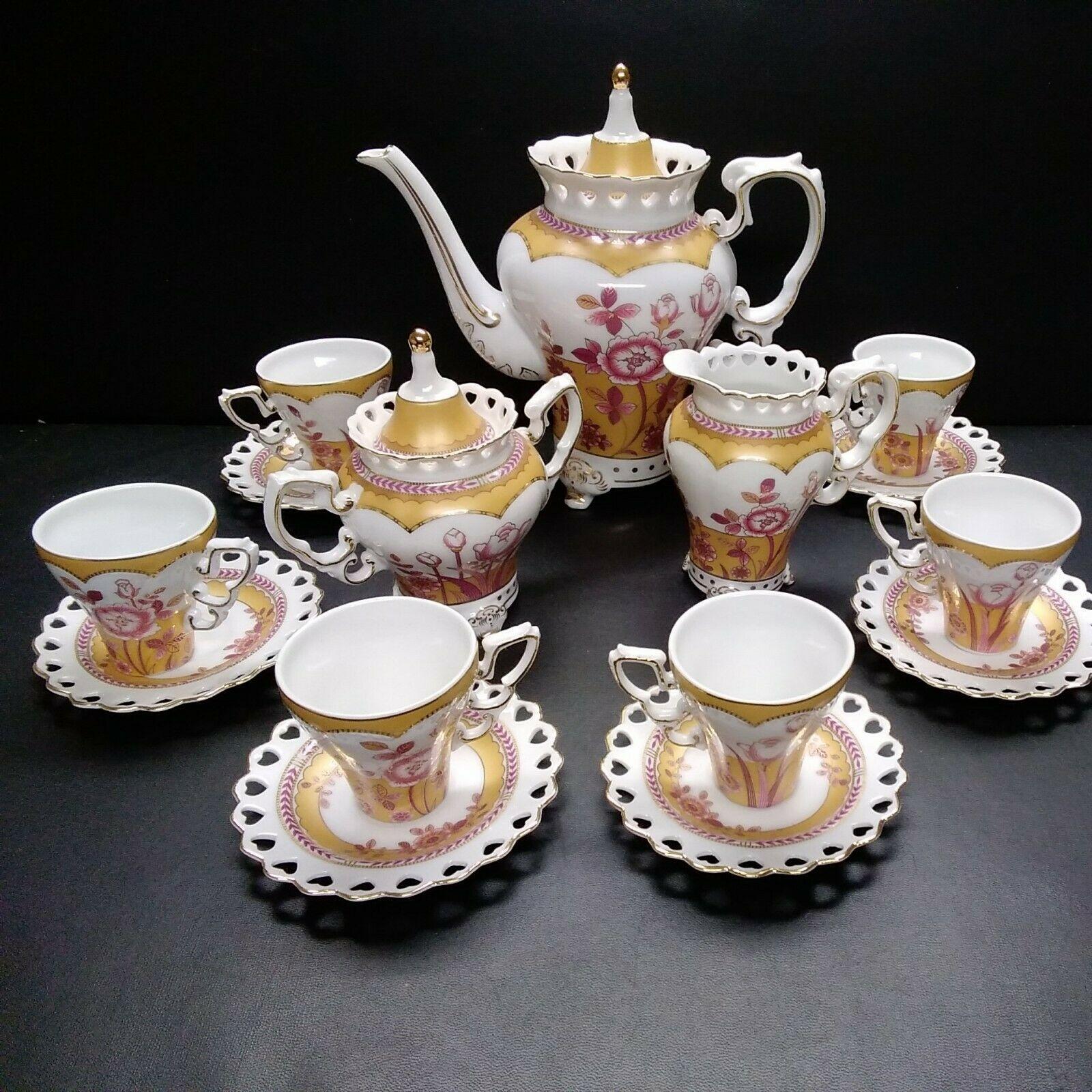 17 piece Tea Set Fine China Tea Set Tea Cups