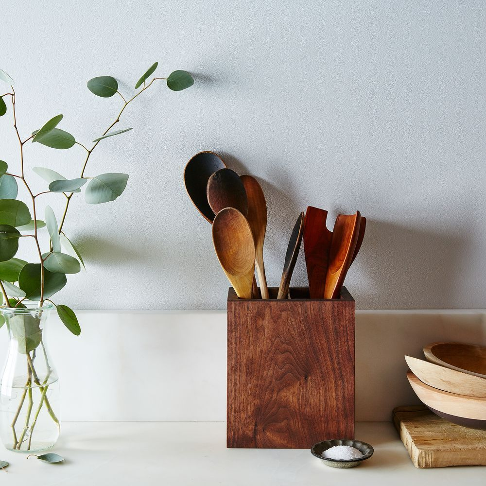 Walnut Kitchen Utensil Holder on Food52 | New kitchen | Pinterest