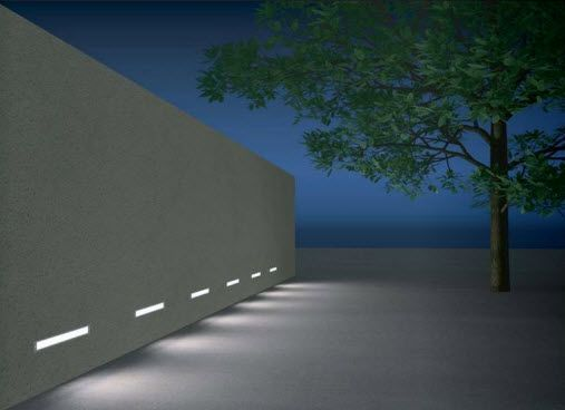 Linear Lower Level Step Light Recessed Wall Lights Garden Wall Lights Exterior Wall Light