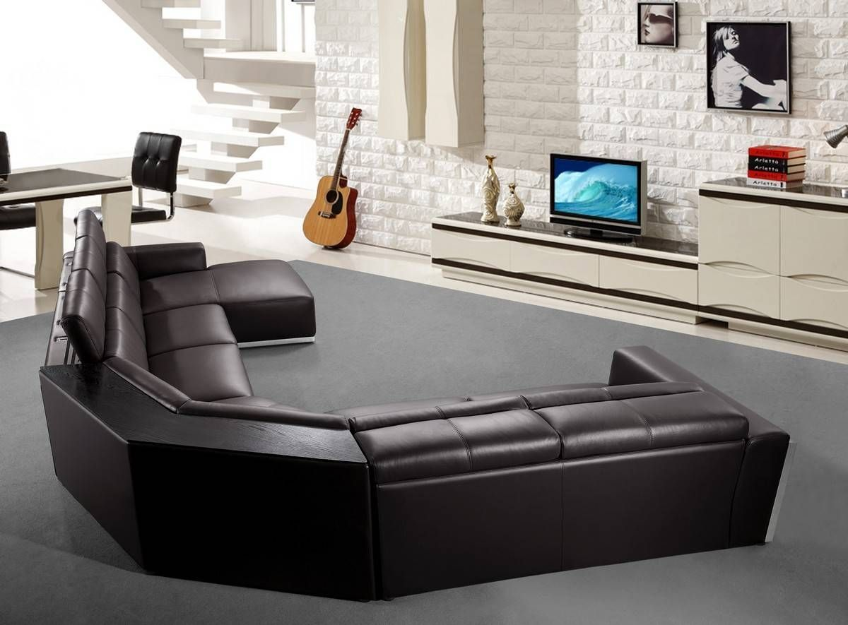 Advanced Adjustable Leather Sectional With Chaise In 2020 Contemporary Leather Sectional Sofa Leather Sectional Leather Sectional Sofa