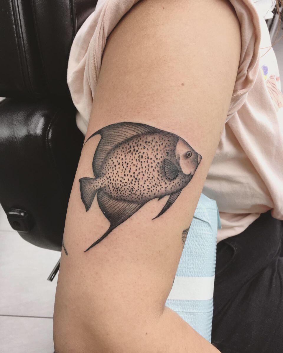 angelfish tattoo | tattoos, skull tattoo, tattoo inspiration  pinterest