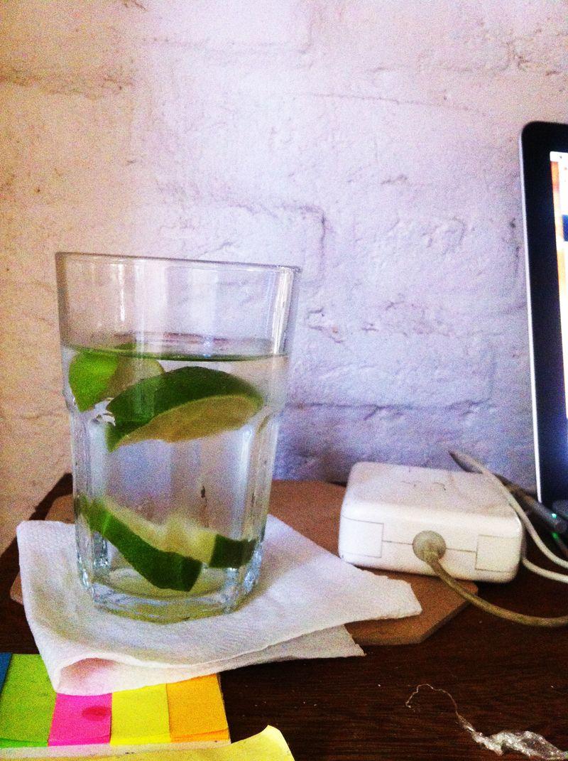 Limão na água para alcalinizar a vida :) #water #lemons