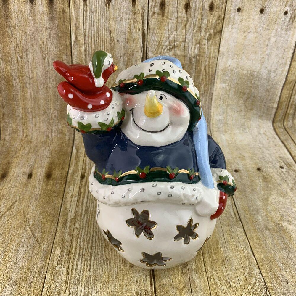Snowman Votive House Holiday Christmas Decor 2018 eBay