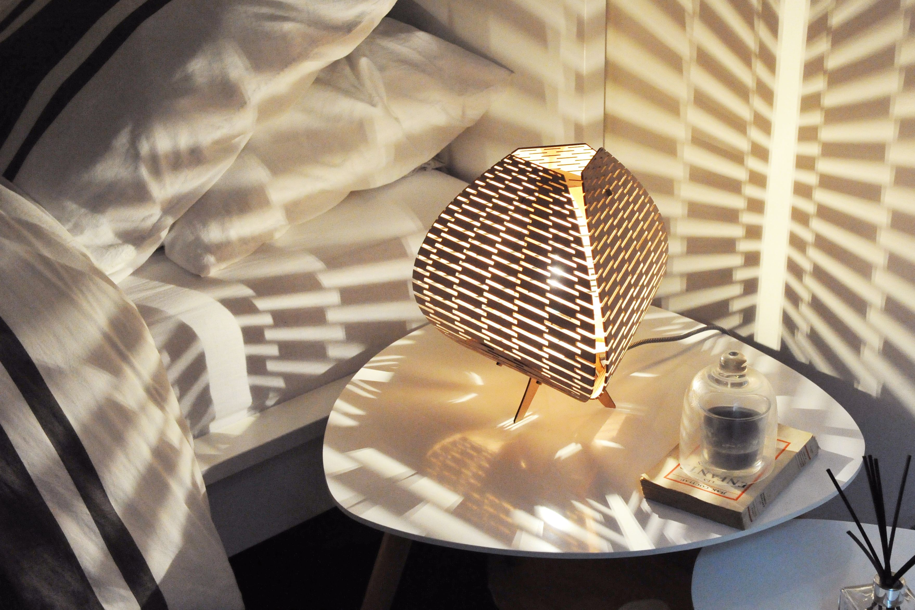 Cosyness This Is Aurore A Lamp Made Of Bent Wood By