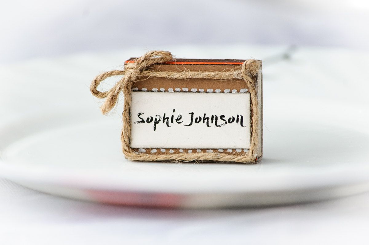 Matchbox place cards Unique place cards Extraordinary wedding place ...