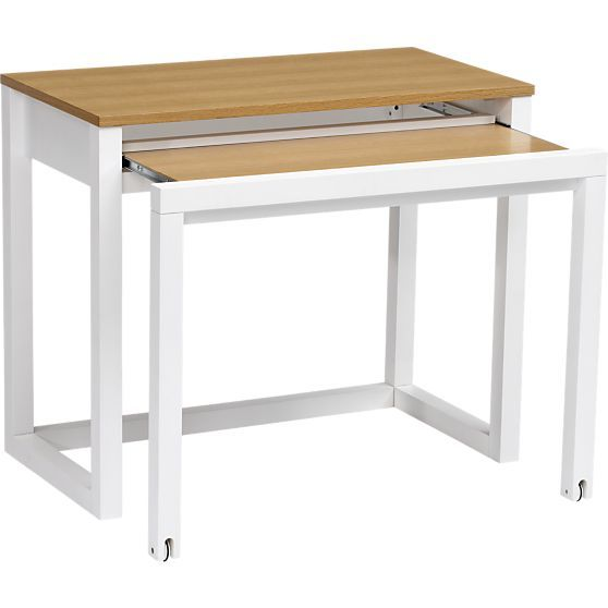 Genial $150, Temporary Desk. Pull Out Table In Desks | Crate And Barrel