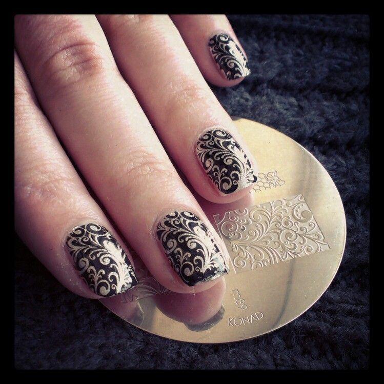 Nail stamping art. Konad.   Dress your nails   Pinterest   Nail ...