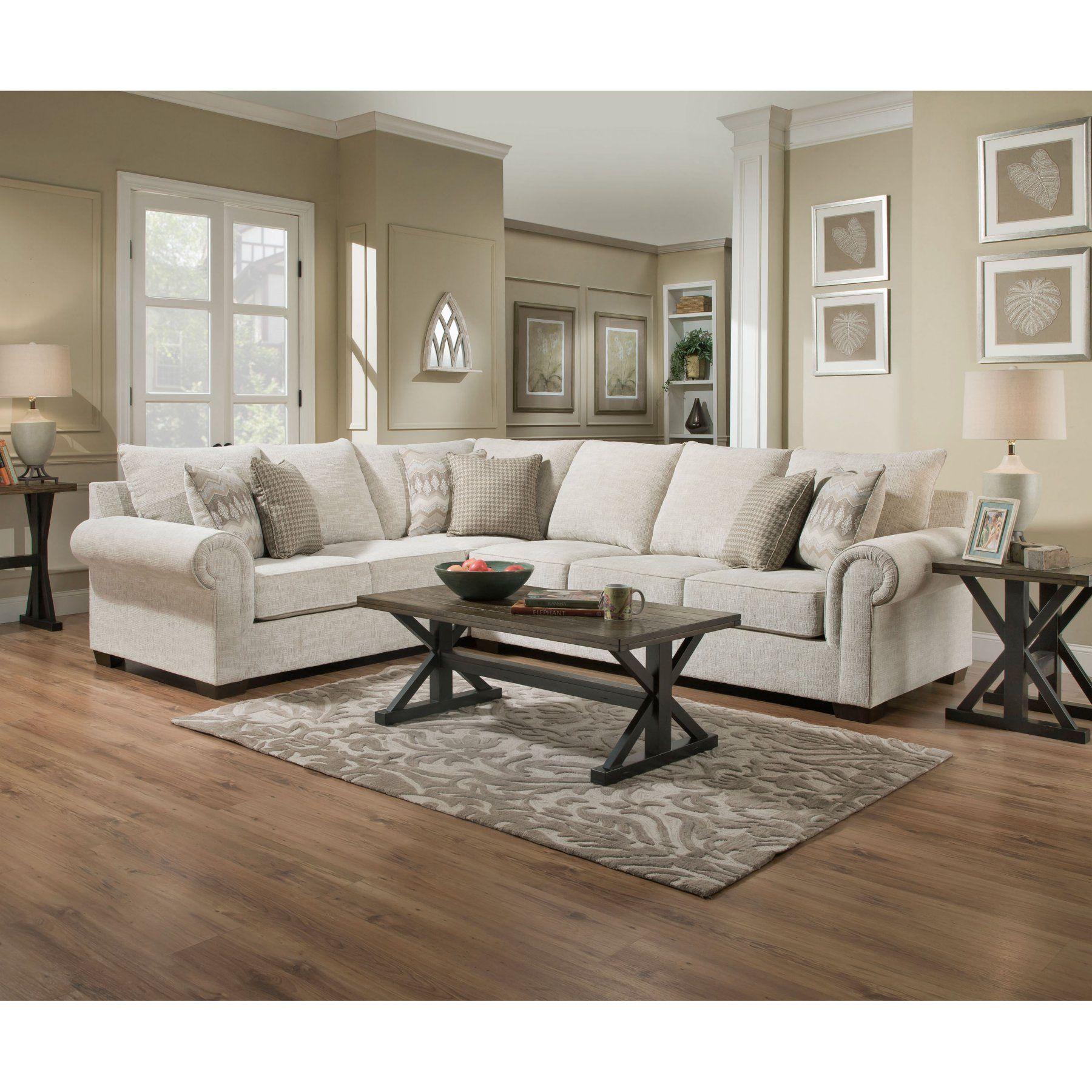 simmons upholstery gavin sectional sofa  udf814